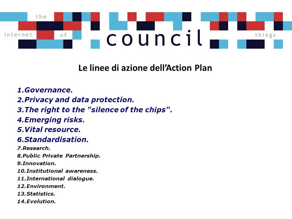 Le linee di azione dellAction Plan 1. Governance.
