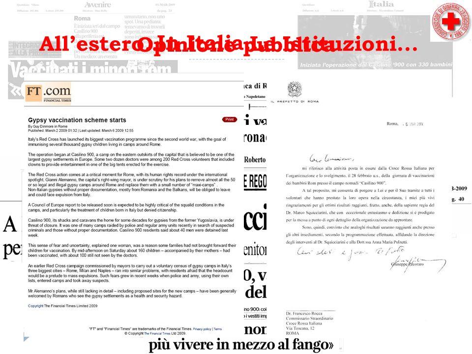 Opinione pubblica Allestero....Le Istituzioni... In Italia...