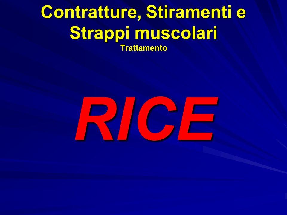 Contratture, Stiramenti e Strappi muscolari Trattamento RICE
