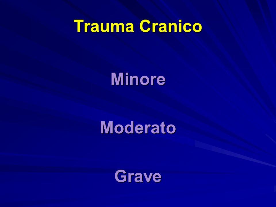 Trauma Cranico MinoreModeratoGrave