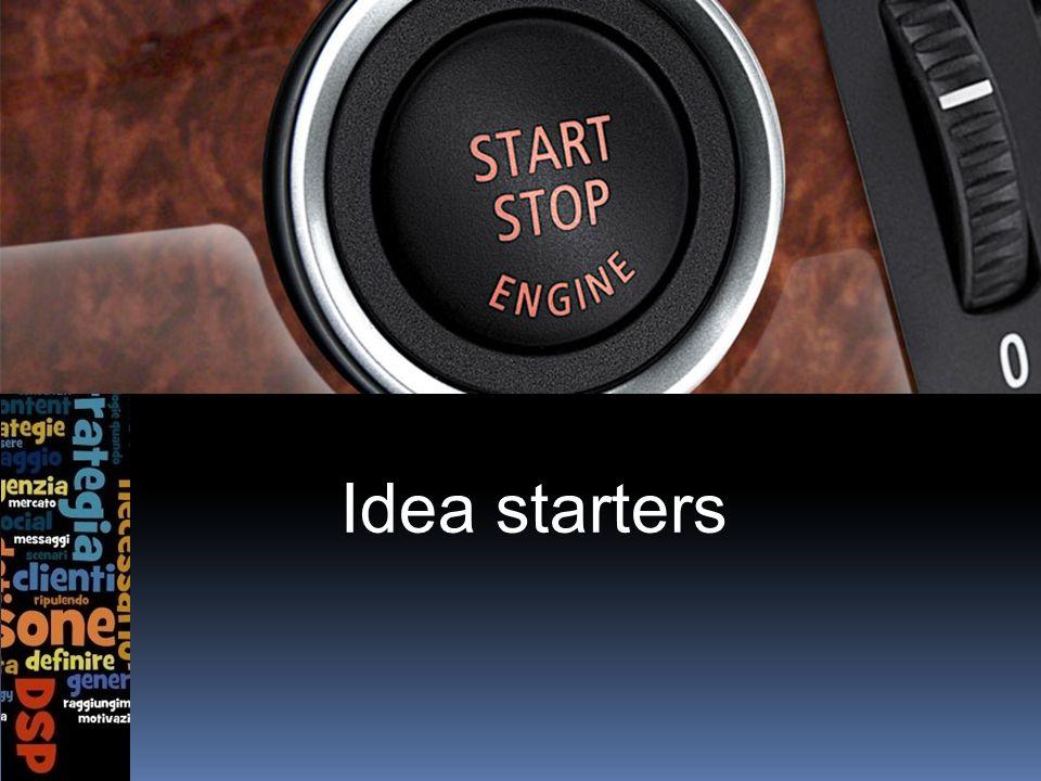 Idea starters