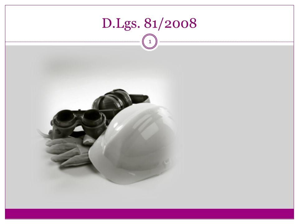1 D.Lgs. 81/2008