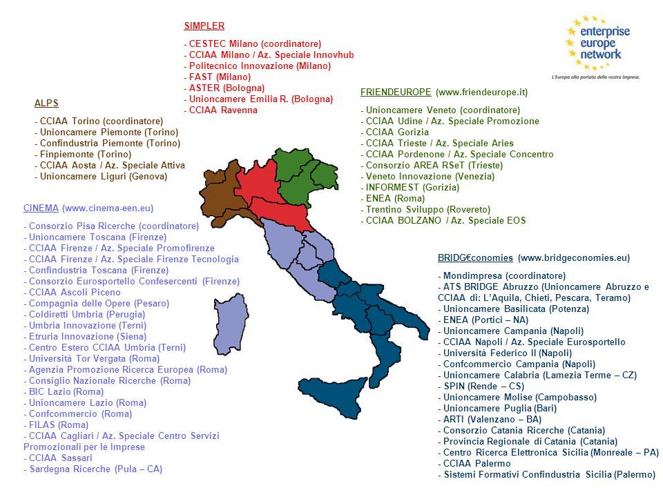 ALPS - CCIAA Torino (coordinatore) - Unioncamere Piemonte (Torino) - Confindustria Piemonte (Torino) - Finpiemonte (Torino) - CCIAA Aosta / Az. Specia