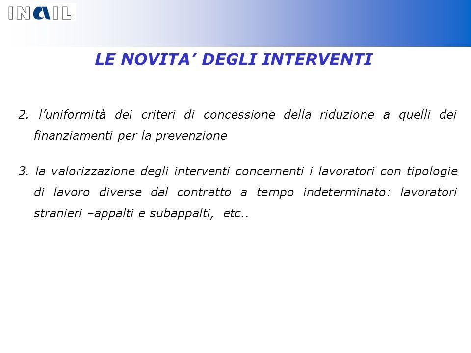 LE NOVITA DEGLI INTERVENTI 2.