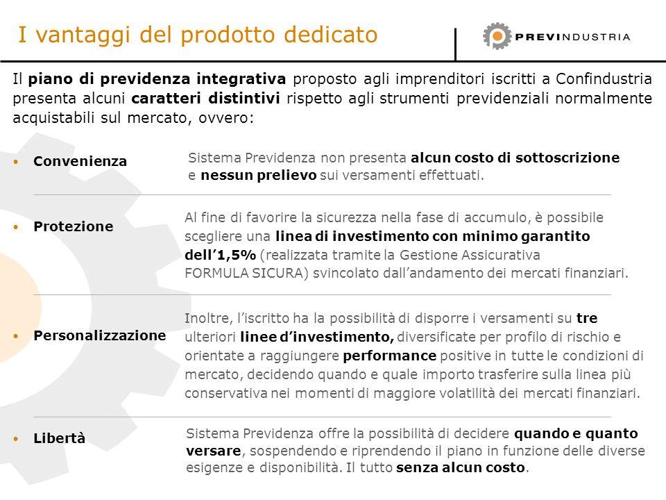 Il piano di previdenza integrativa proposto agli imprenditori iscritti a Confindustria presenta alcuni caratteri distintivi rispetto agli strumenti pr