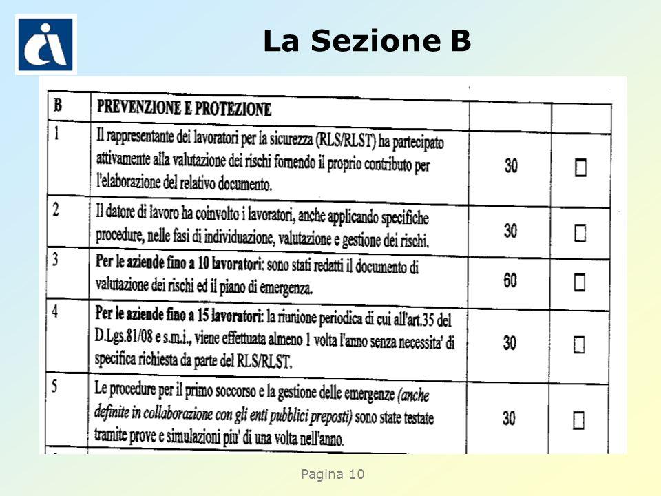 Pagina 10 La Sezione B