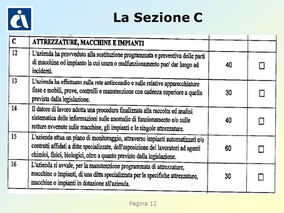 Pagina 12 La Sezione C