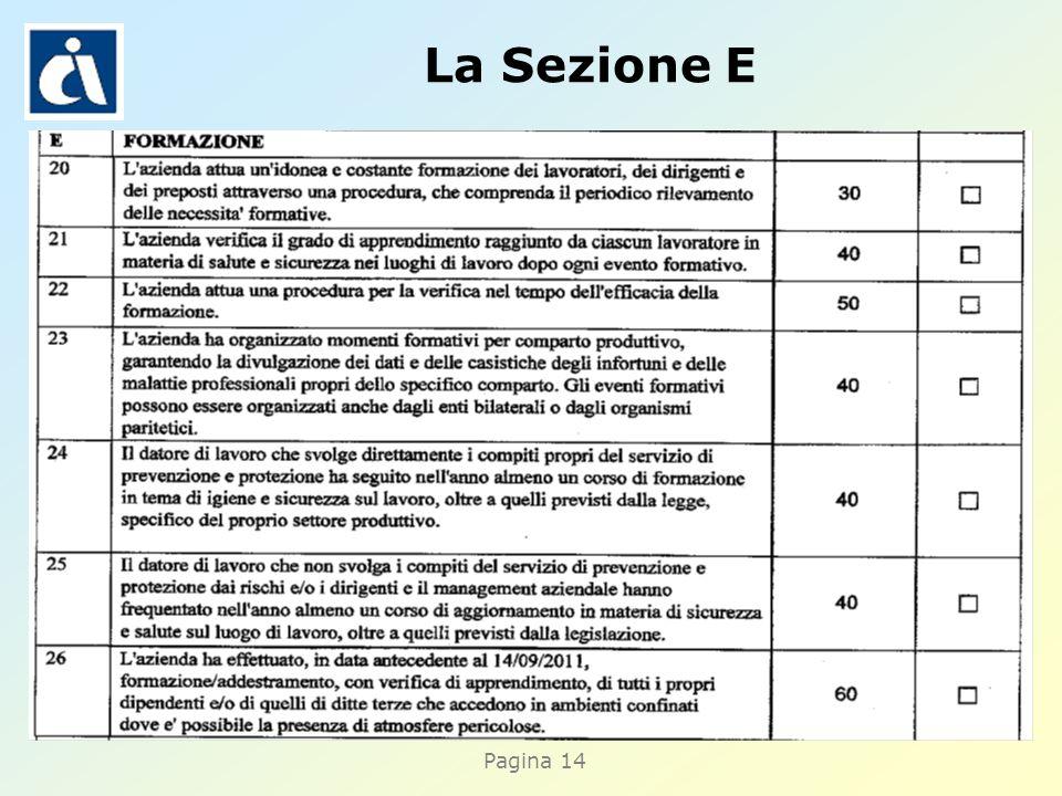 Pagina 14 La Sezione E