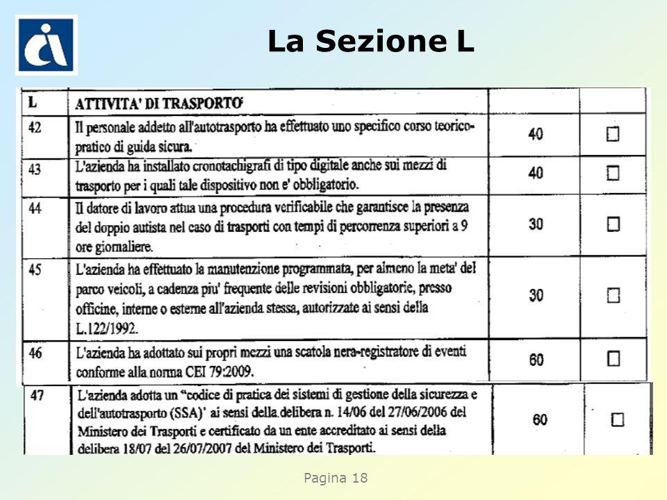 Pagina 18 La Sezione L