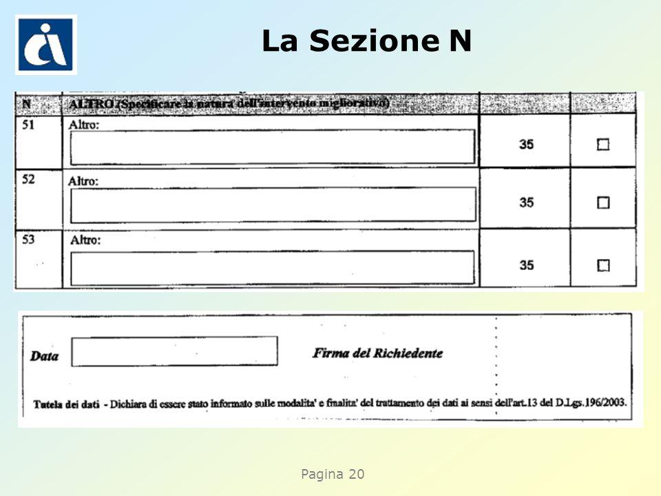 Pagina 20 La Sezione N