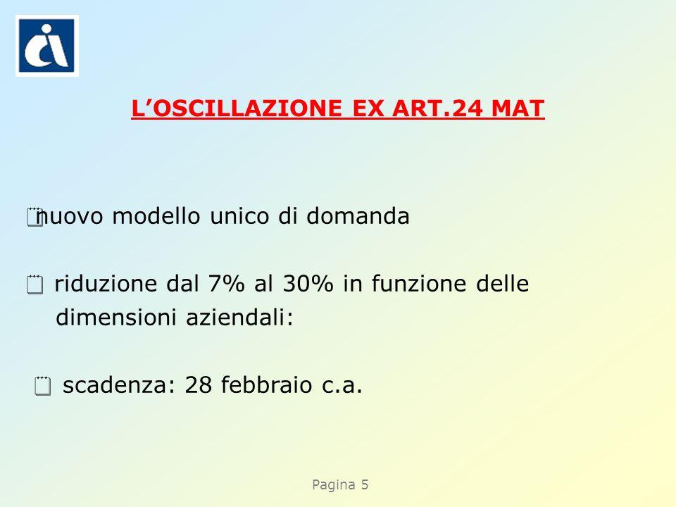 Pagina 5 nuovo modello unico di domanda riduzione dal 7% al 30% in funzione delle dimensioni aziendali: scadenza: 28 febbraio c.a.