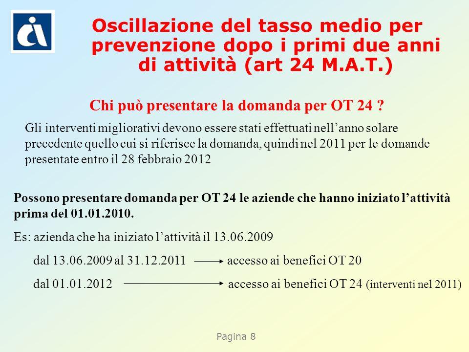 Pagina 8 Chi può presentare la domanda per OT 24 .