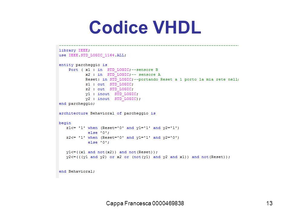 Cappa Francesca 000046983813 Codice VHDL