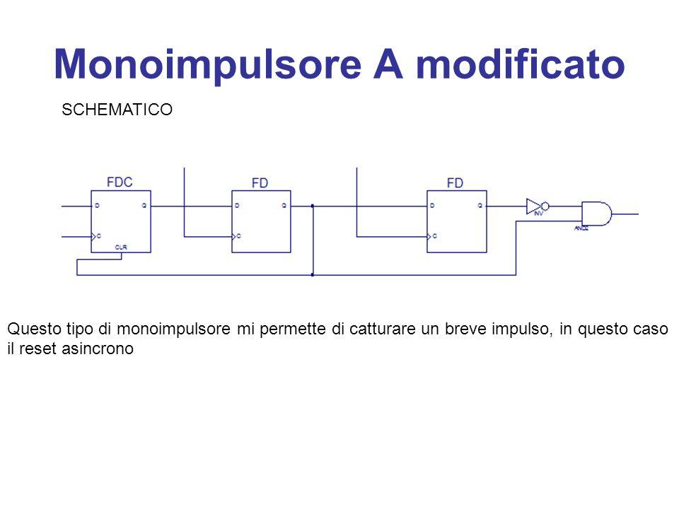 Monoimpulsore A modificato SCHEMATICO Questo tipo di monoimpulsore mi permette di catturare un breve impulso, in questo caso il reset asincrono