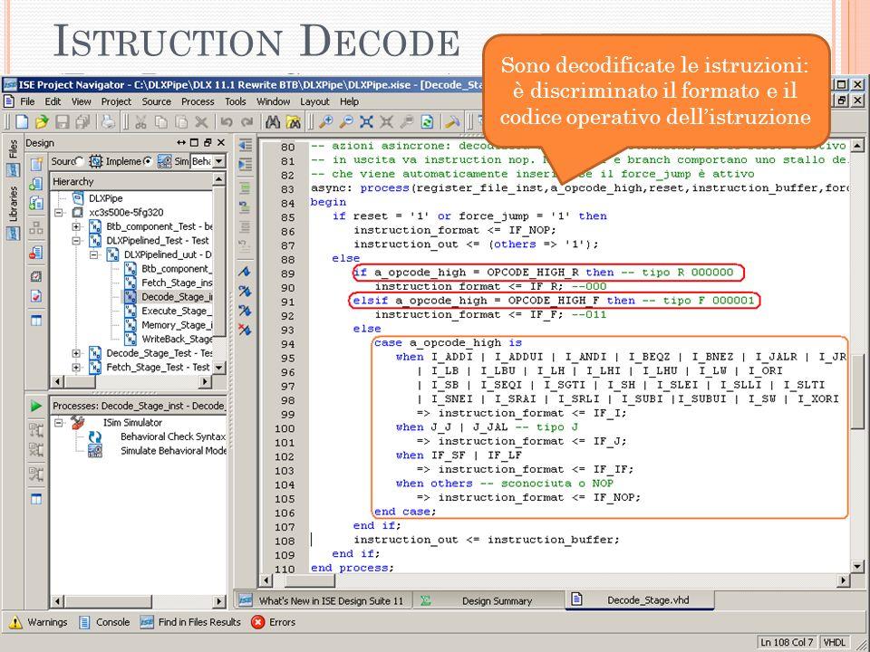 I STRUCTION D ECODE (F ILE D ECODE _S TAGE.