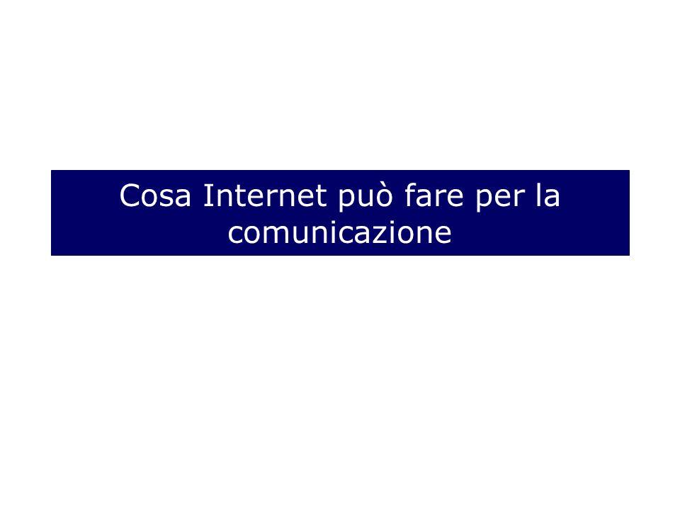 Cosa Internet può fare per la comunicazione