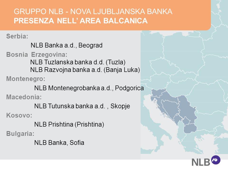 Serbia: NLB Banka a.d., Beograd Bosnia Erzegovina: NLB Tuzlanska banka d.d.