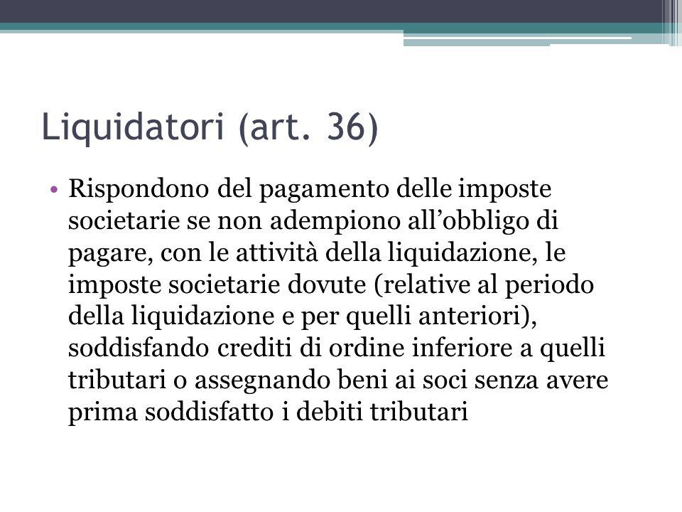Liquidatori (art.