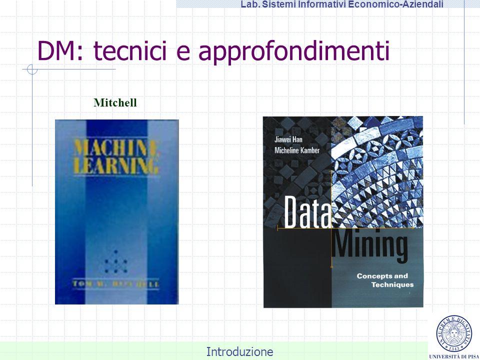 Introduzione Lab. Sistemi Informativi Economico-Aziendali DM: tecnici e approfondimenti Mitchell
