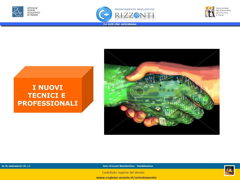 Le reti che orientano 22 UFFICIO XI UFFICIO SCOLASTICO DI TREVISO Coordinamento Reti Orientamento della Provincia di Treviso Da Re adattamento RC_LGRe