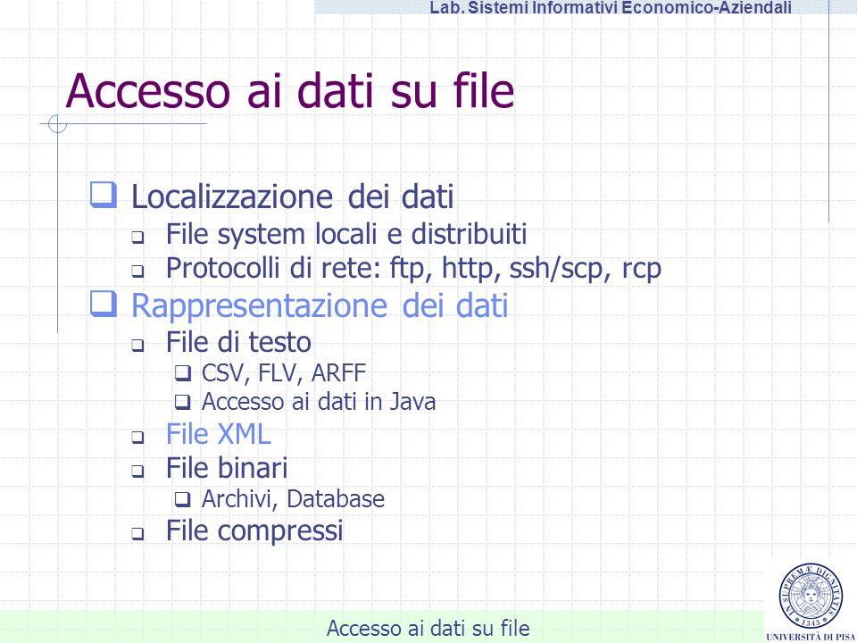 Accesso ai dati su file Lab.