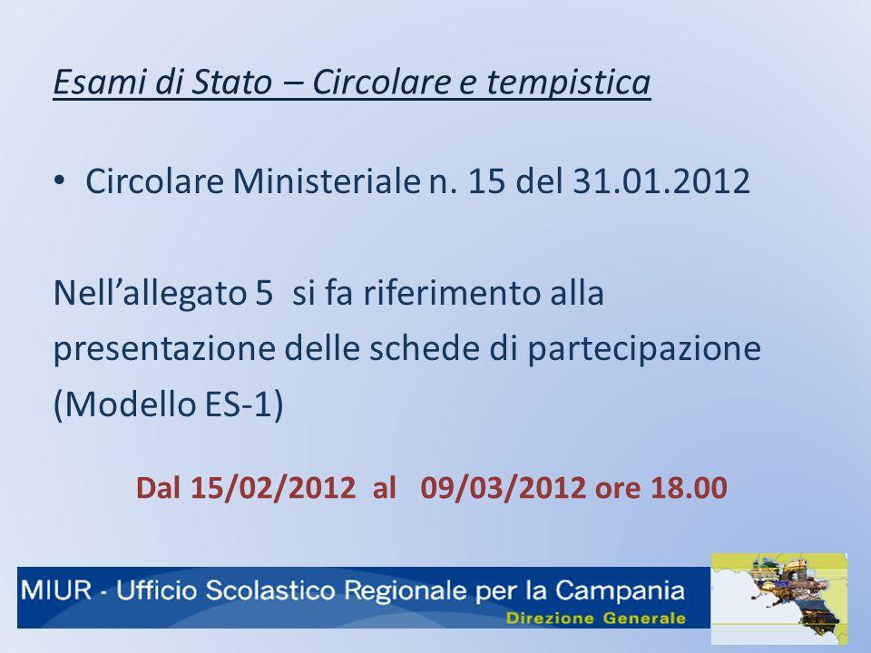 Esami di Stato – Circolare e tempistica Circolare Ministeriale n.