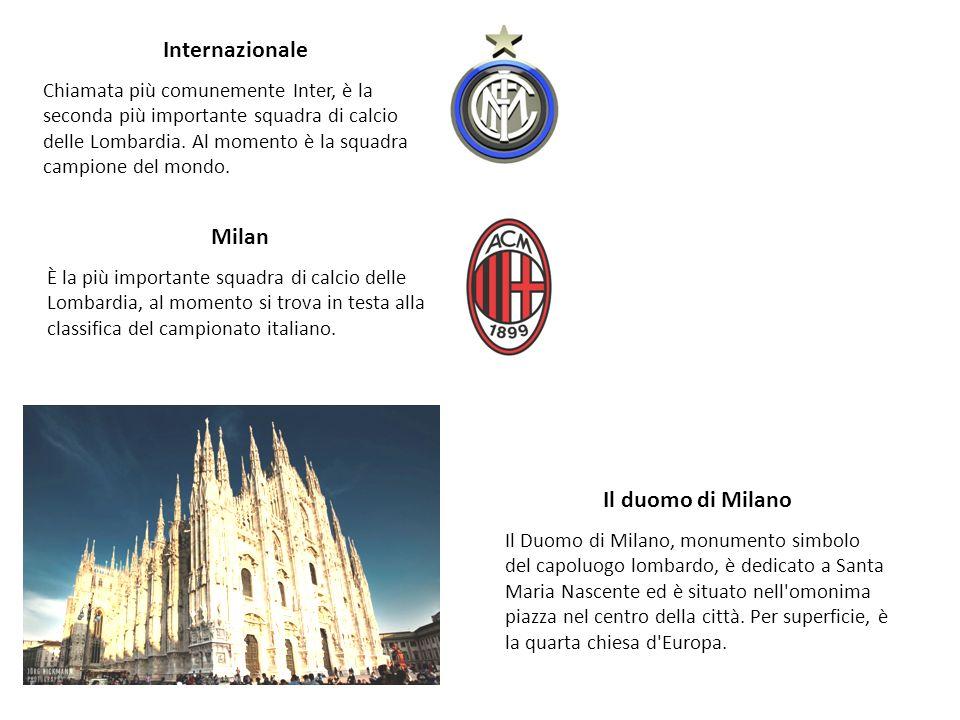 Internazionale Chiamata più comunemente Inter, è la seconda più importante squadra di calcio delle Lombardia. Al momento è la squadra campione del mon