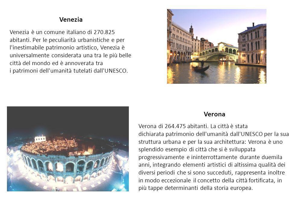 Venezia Venezia è un comune italiano di 270.825 abitanti. Per le peculiarità urbanistiche e per l'inestimabile patrimonio artistico, Venezia è univers