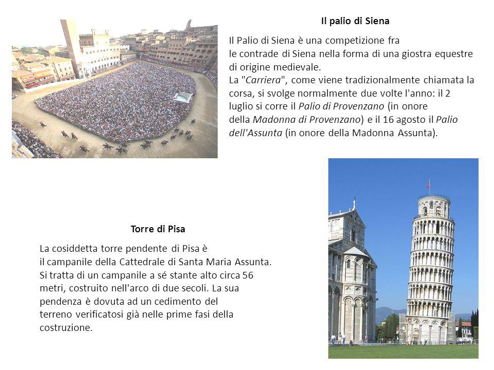 Torre di Pisa La cosiddetta torre pendente di Pisa è il campanile della Cattedrale di Santa Maria Assunta. Si tratta di un campanile a sé stante alto