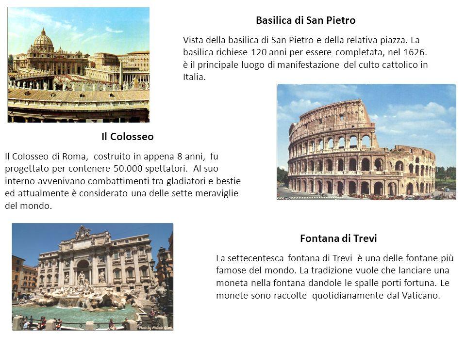 Basilica di San Pietro Vista della basilica di San Pietro e della relativa piazza. La basilica richiese 120 anni per essere completata, nel 1626. è il