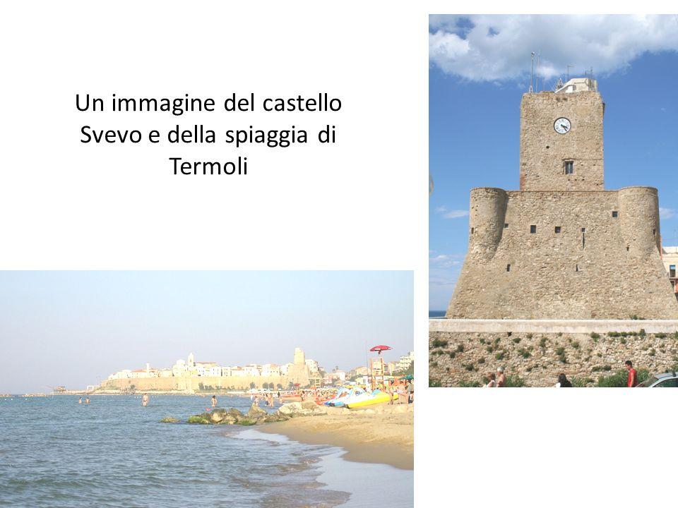 Un immagine del castello Svevo e della spiaggia di Termoli