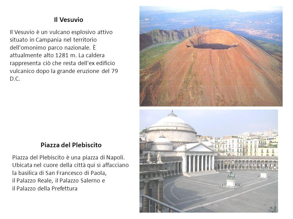 Il Vesuvio Il Vesuvio è un vulcano esplosivo attivo situato in Campania nel territorio dell'omonimo parco nazionale. È attualmente alto 1281 m. La cal