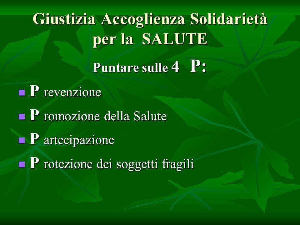 SALUTE e PROGRAMMAZIONE STRATEGICA IN PUGLIA Guadagnare Salute in Puglia deve essere riferimento obbligatorio per la costruzione di una collaborazione interassessorile e interistituzionale a livello regionale e nei territori.