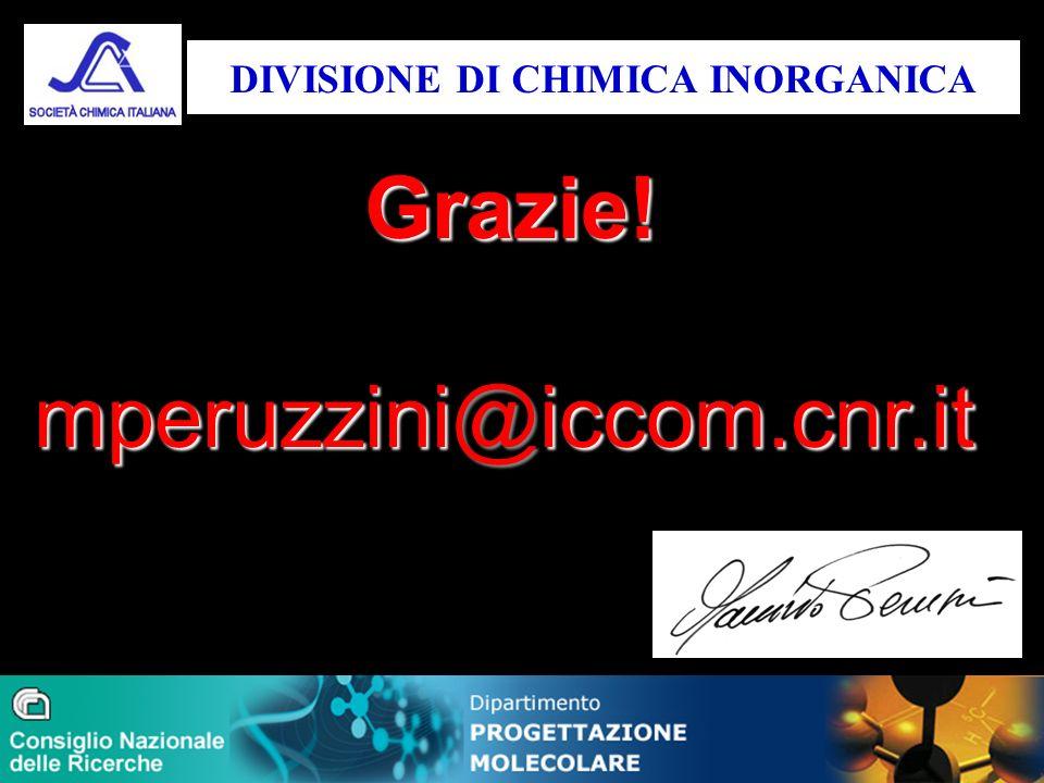 Grazie! mperuzzini@iccom.cnr.it DIVISIONE DI CHIMICA INORGANICA