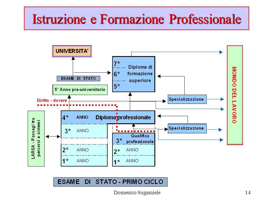 Domenico Sugamiele14 Istruzione e Formazione Professionale