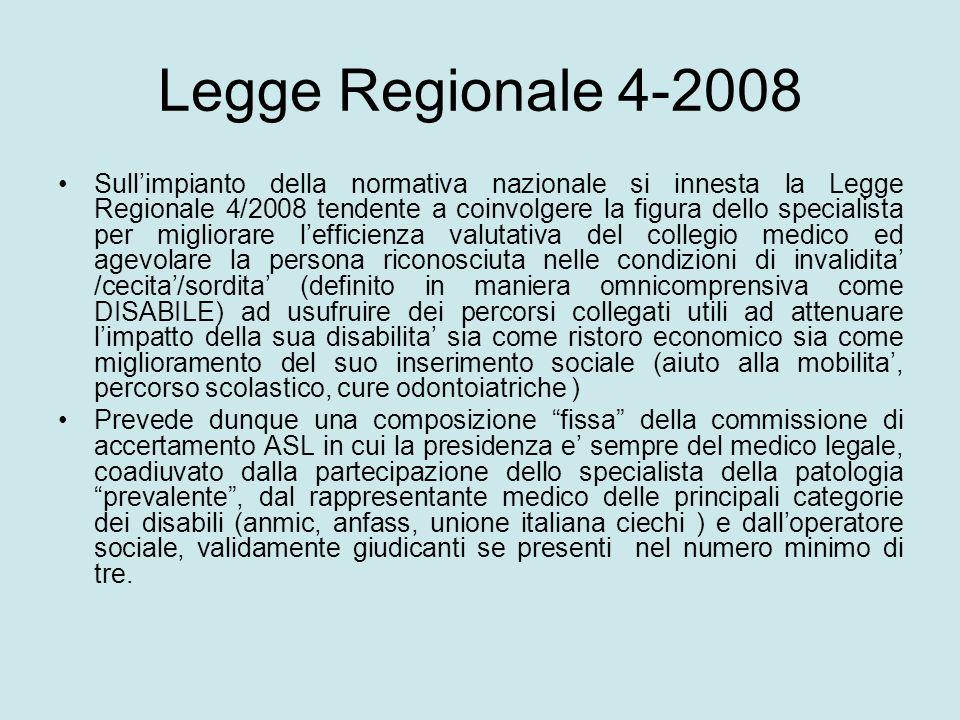 Legge Regionale 4-2008 Sullimpianto della normativa nazionale si innesta la Legge Regionale 4/2008 tendente a coinvolgere la figura dello specialista