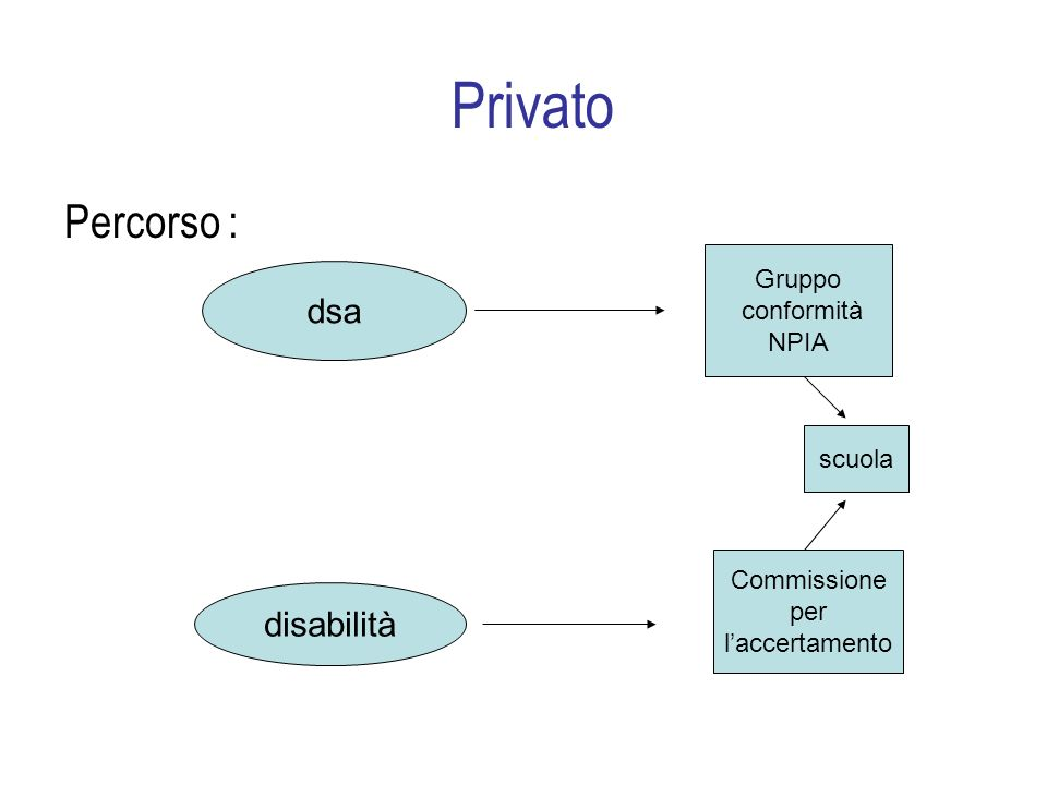 Privato Percorso : dsa Gruppo conformità NPIA disabilità scuola Commissione per laccertamento
