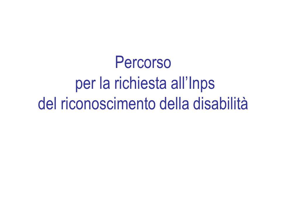 Percorso per la richiesta allInps del riconoscimento della disabilità