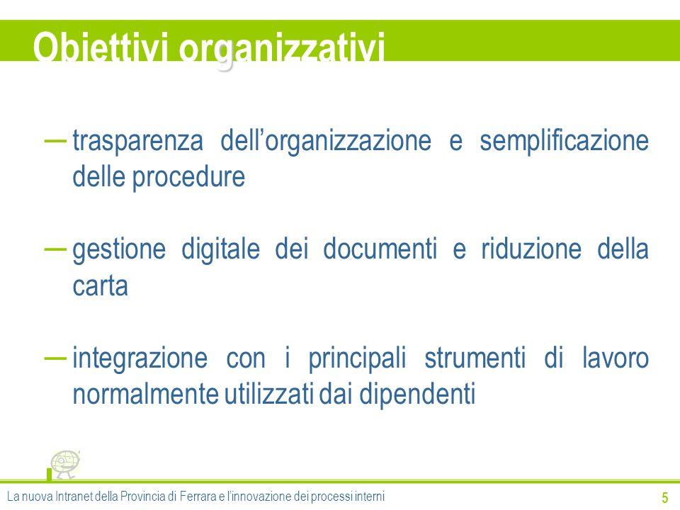 g Obiettivi organizzativi 5 trasparenza dellorganizzazione e semplificazione delle procedure gestione digitale dei documenti e riduzione della carta i