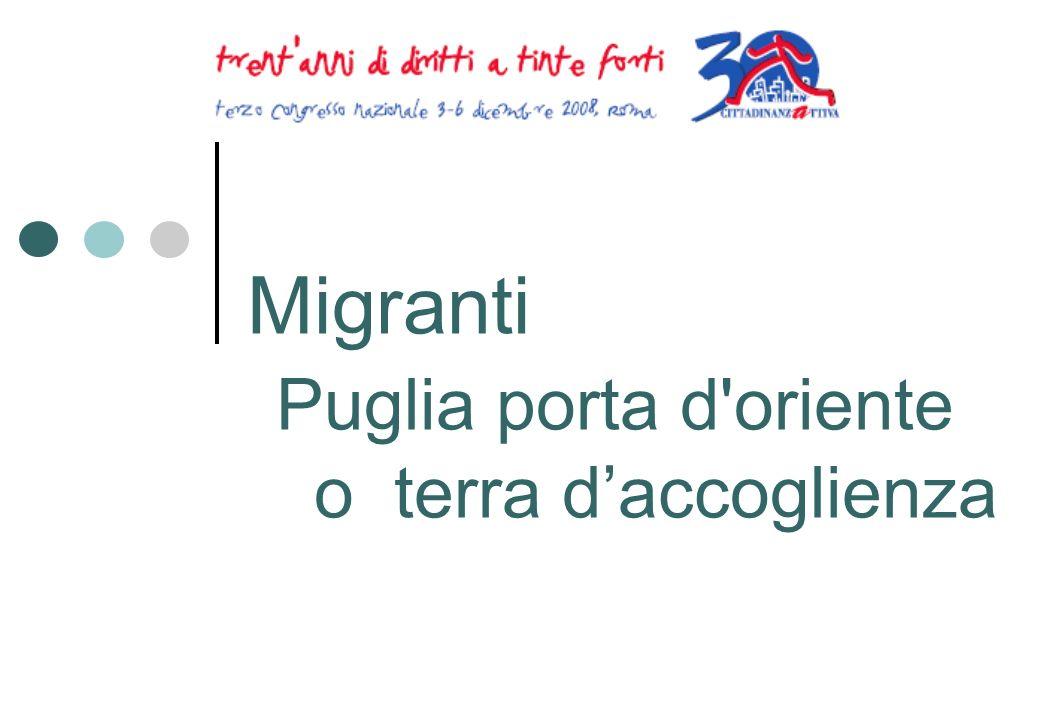 Migranti Puglia porta d oriente o terra daccoglienza