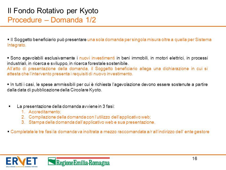 16 La presentazione della domanda avviene in 3 fasi: 1.Accreditamento; 2.Compilazione della domanda con lutilizzo dellapplicativo web; 3.Stampa della