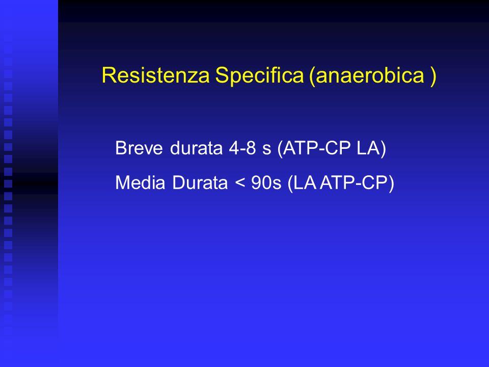 Resistenza Generale o di Base Resistenza Aerobica (O 2 ) Difese immunitarie Capacità di reazione sotto sforzo Termoregolazione