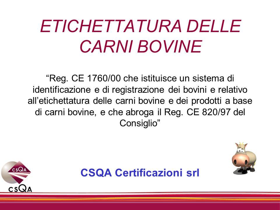 Decreto 30/08/2000 Recepimento del Reg.CE 1760/00 Art.