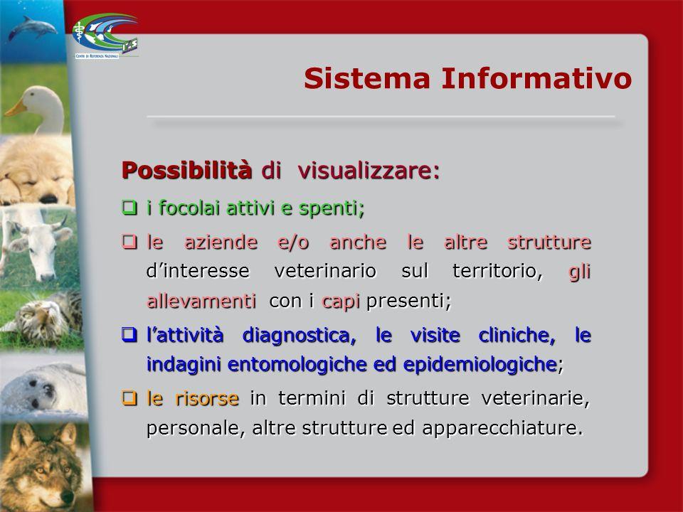 Sistema informativo -il Piano di Sorveglianza- Istituzione, da parte del CESME/COVEPI, di un sistema informativo telematico Istituzione, da parte del