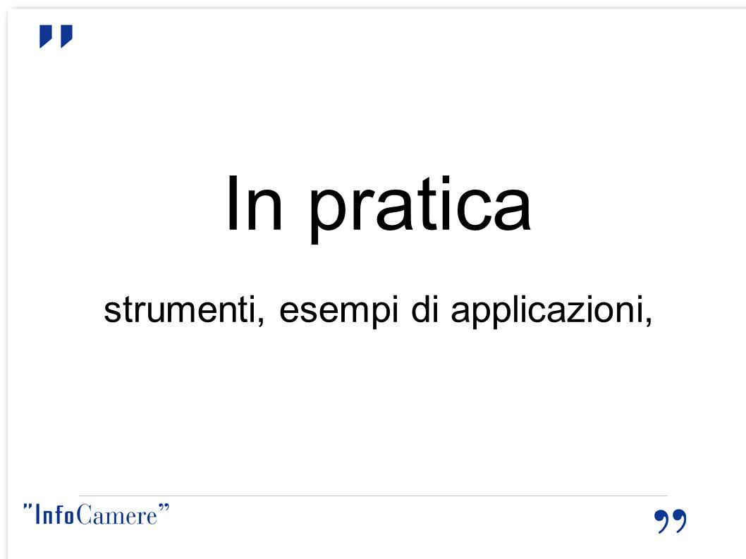 In pratica strumenti, esempi di applicazioni,