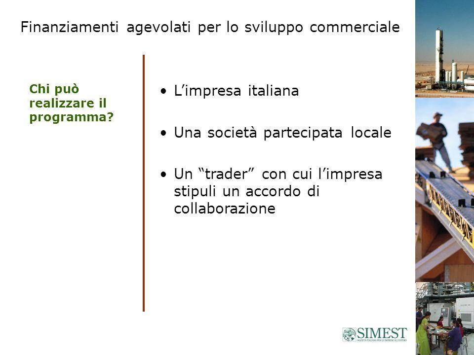 Limpresa italiana Una società partecipata locale Un trader con cui limpresa stipuli un accordo di collaborazione Chi può realizzare il programma.