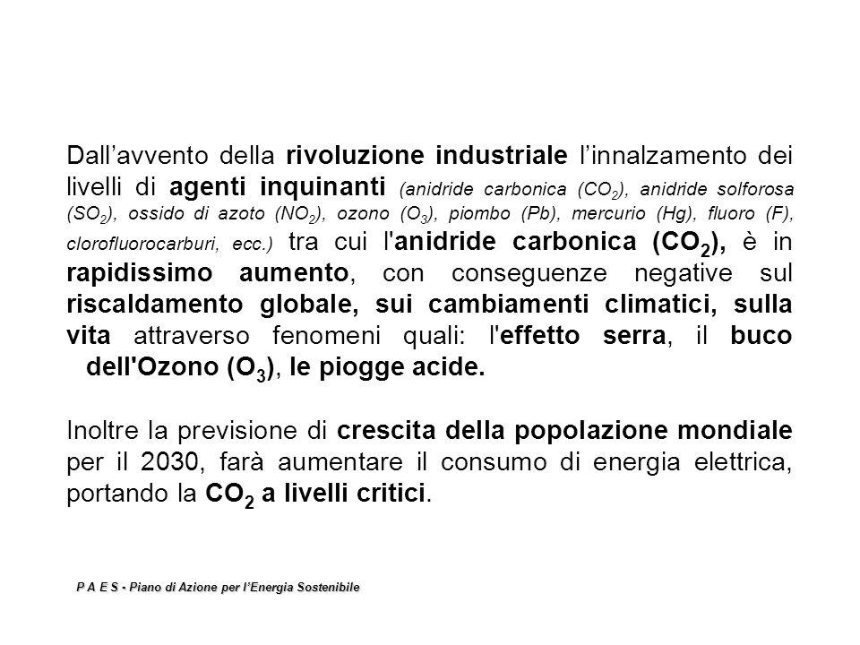 Dallavvento della rivoluzione industriale linnalzamento dei livelli di agenti inquinanti (anidride carbonica (CO 2 ), anidride solforosa (SO 2 ), ossi