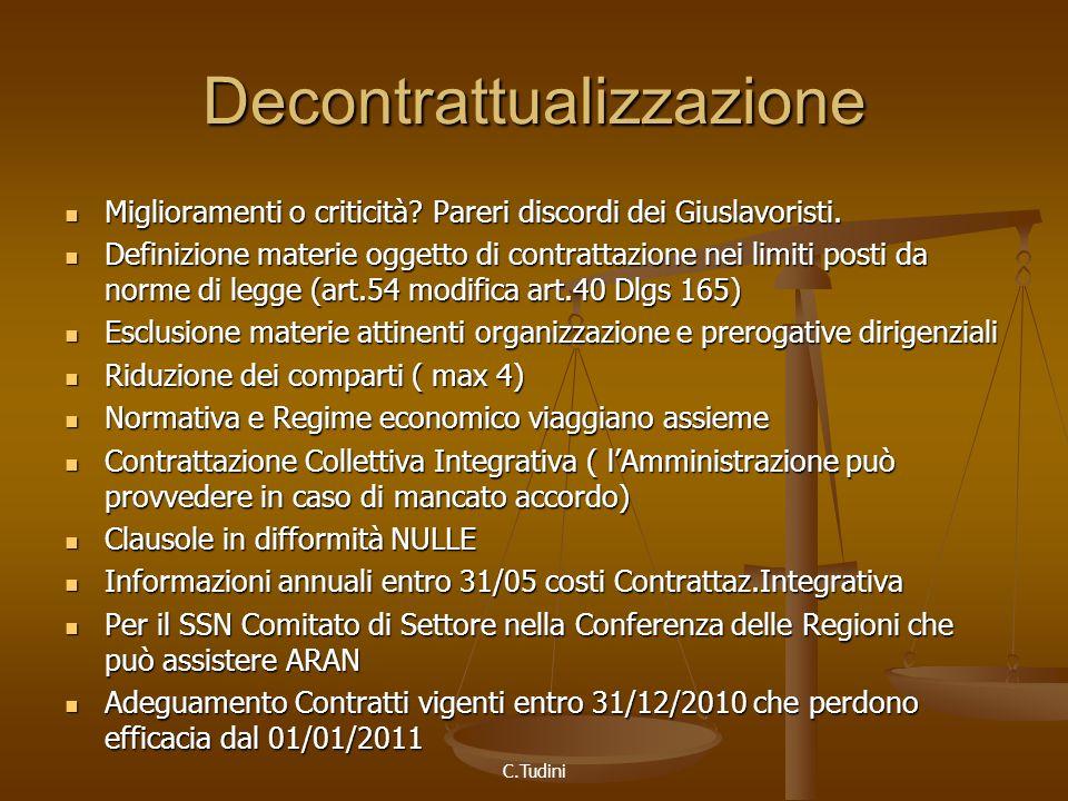 C.Tudini Decontrattualizzazione Miglioramenti o criticità.