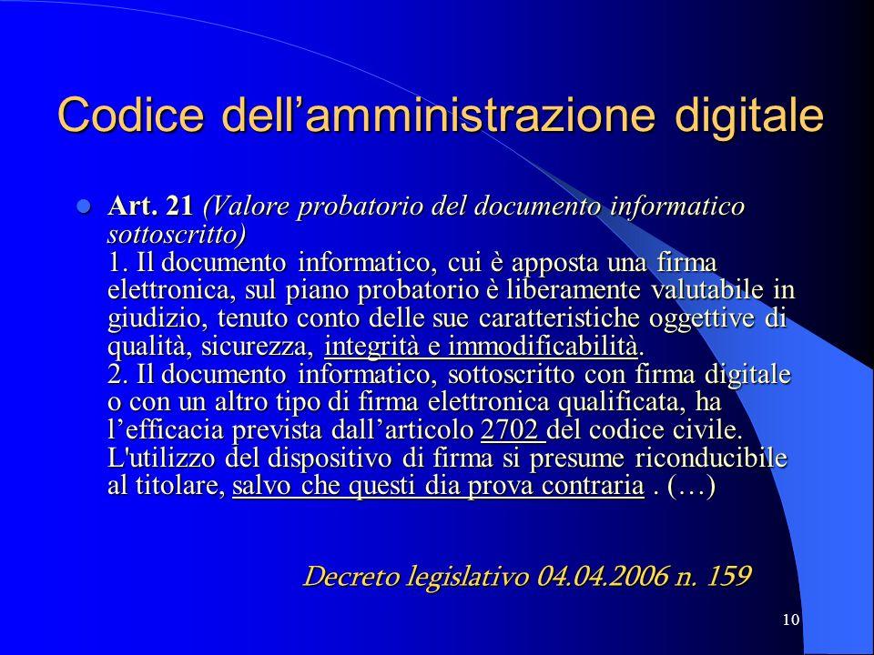 10 Codice dellamministrazione digitale Art.