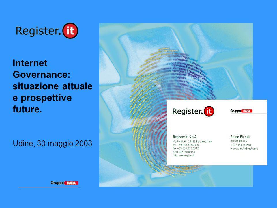 2Università di Udine, 30 maggio 2003 Register.it: quelli dei domini Primo operatore italiano accreditato presso ICANN Oltre 160.000 domini registrati (+ 6.500 nuovi domini/mese)